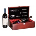 Rosewood Piano Finish Dual Wine Box Set